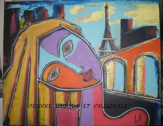 Paris. Tableau cubiste